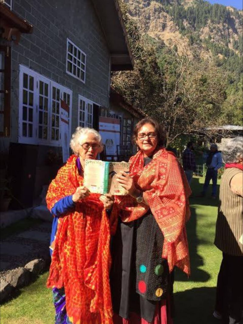 Namita Gokhale her mother in the mountains