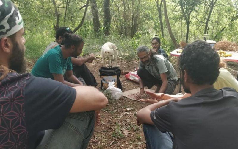 Vinay conducting a workshop in Palangi
