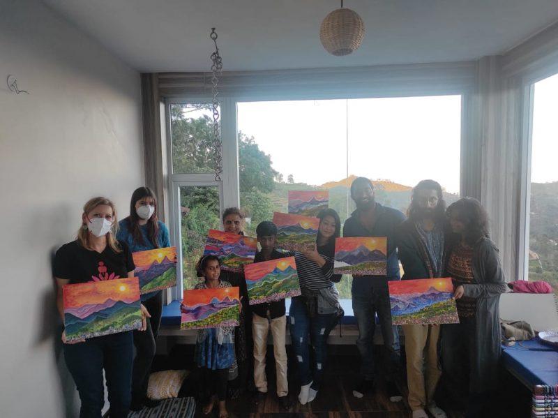 Participants at a workshop at Boho Kodai