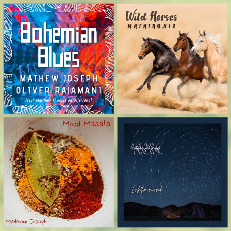 Cover art from Dr Mathew Joseph's albums