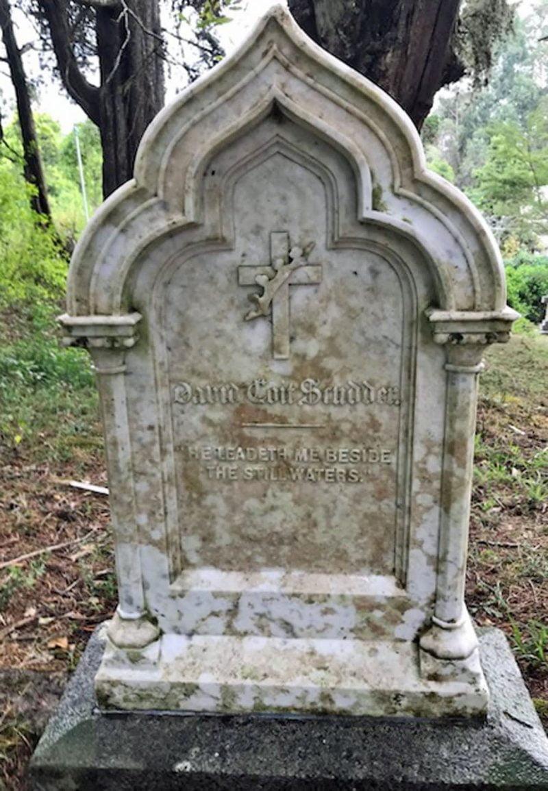 David Coit Scudder's grave