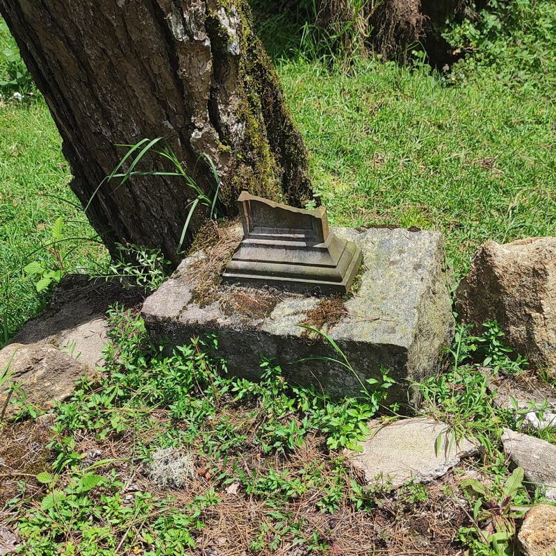 Grave robbers stole the metal from this grave - 1