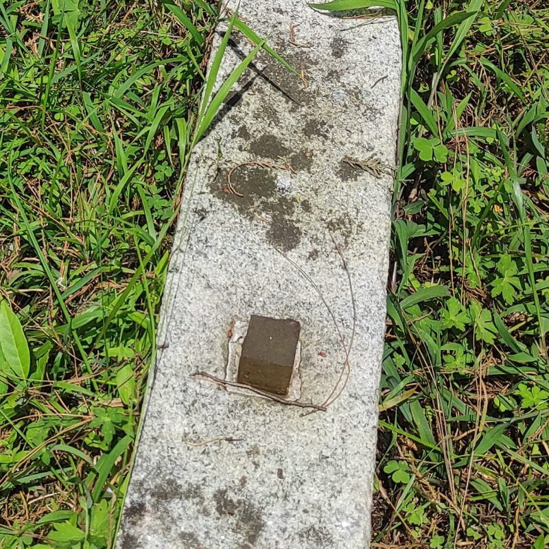 Grave robbers stole the metal from this grave - 2