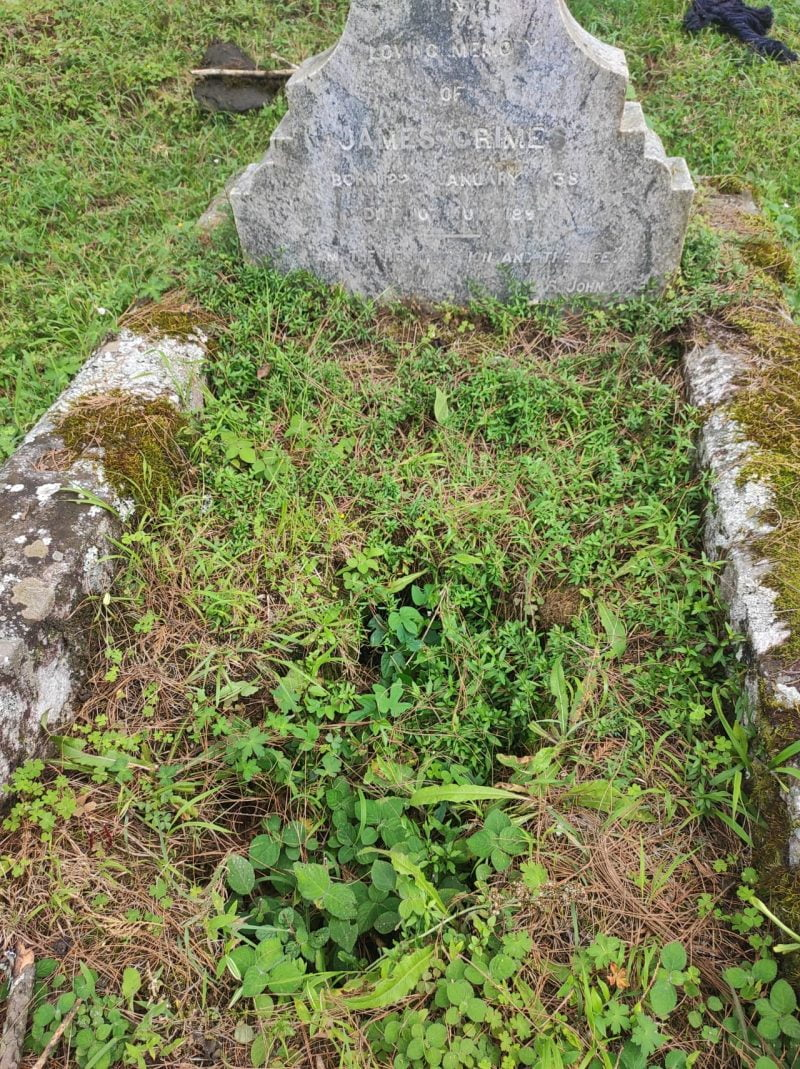 The grave of James Grimes
