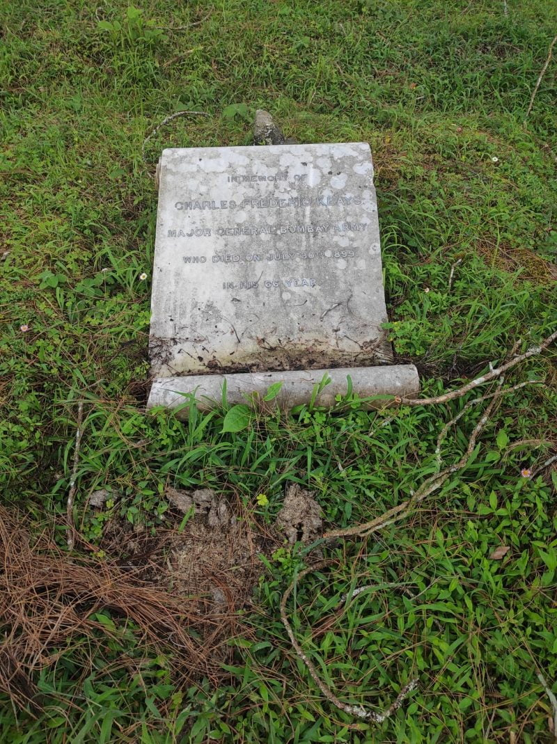 The grave of Charles F Keays