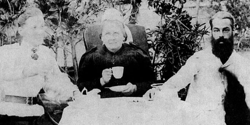 A picture of an early tea party, somewhere in Kodaikanal