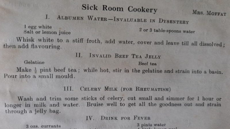 Handy recipes from the High Clerc Cookery Book